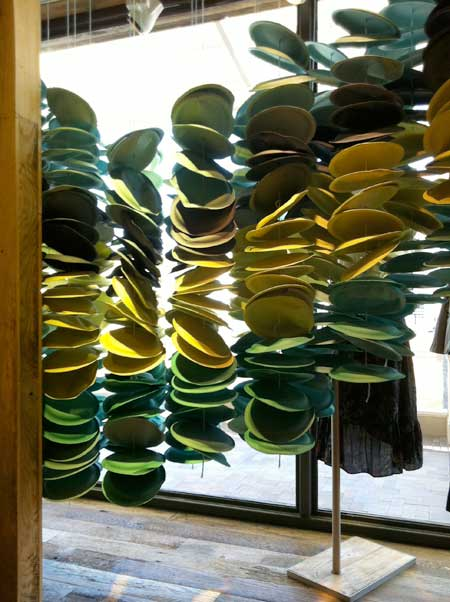 These strings of paper plates are inside displays too - with more color. I might just pay a visit to my local Smart and Final during my wedding decor ... & It is time for - guess what? Anthropologie displays! - You can fool ...
