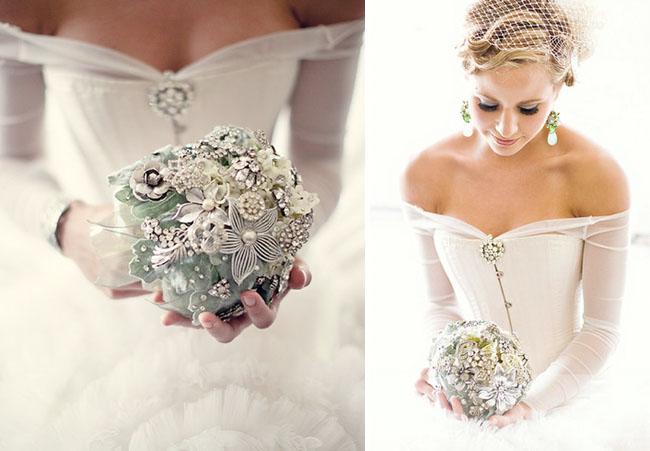 Gray brooch bouquet2